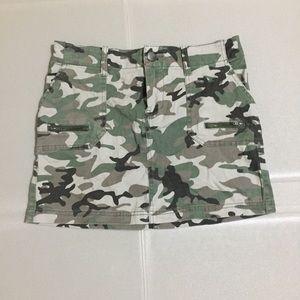 Love Fire Camouflage Mini Skirt